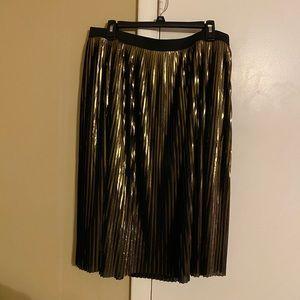 Elastic waist Metallic Gold skirt